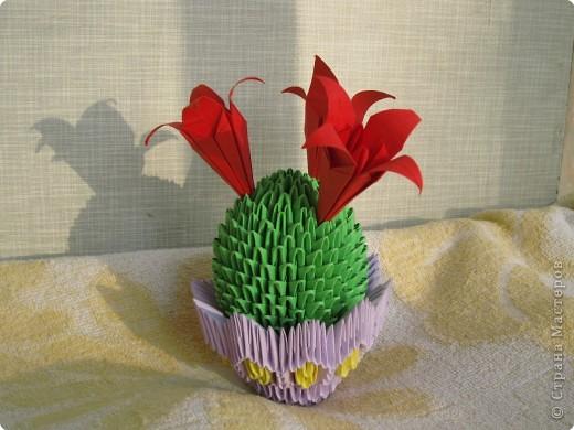 Оригами модульное: Кактус