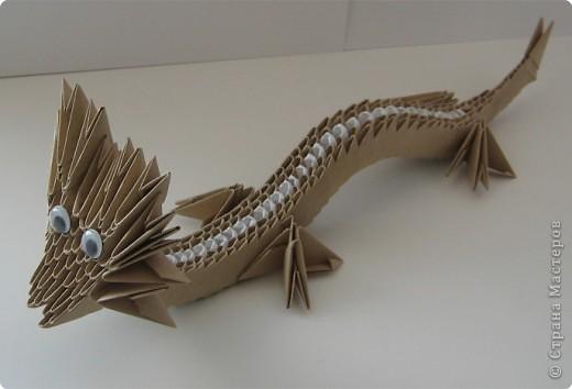 Оригами модульное: дракончик фото 2