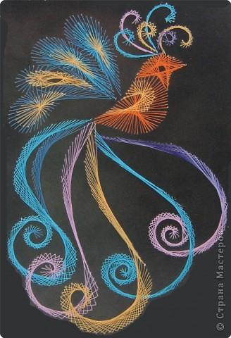 Изонить: райская птичка