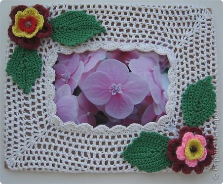 Вязание крючком: рамка для фото