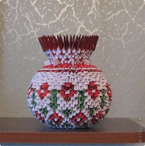 Оригами модульное: вазы фото 3