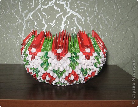 Оригами модульное: вазы фото 2
