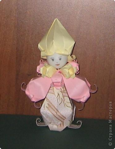 Оригами: кукла