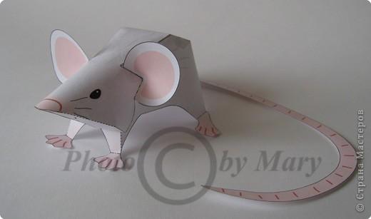Бумагопластика: Мышонок фото 1