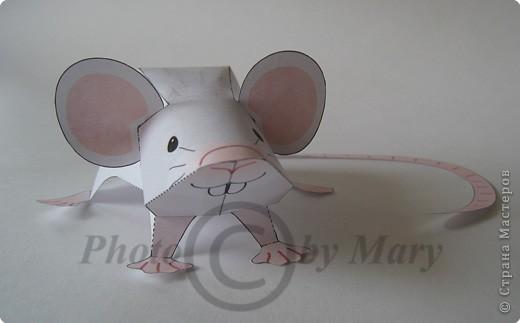 Бумагопластика: Мышонок фото 2