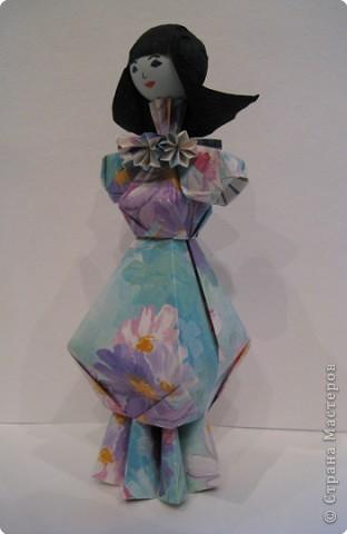 Куклы Оригами Дама в голубом