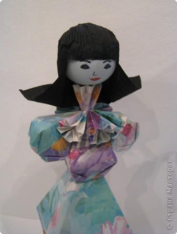 Оригами: Дама в голубом фото 2