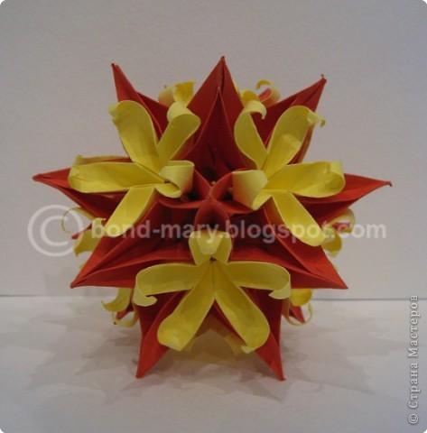 Оригами Кусудама Динара