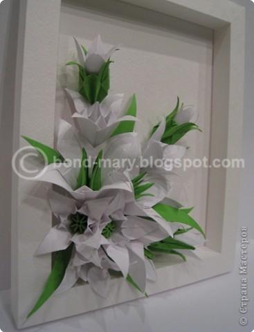 Когда-то я изъявила одной хорошей рукодельнице и блогерше желание пробовать сделать открытку с элементами оригами. Но получилась не открытка, а объемное панно. фото 2
