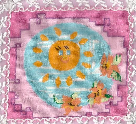 Вышивка: Подушечка для доченьки