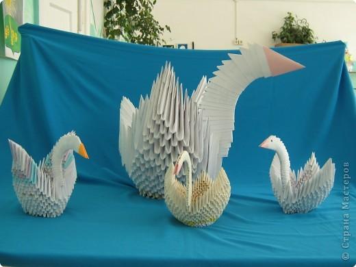 Оригами модульное: Лебединое озеро фото 2