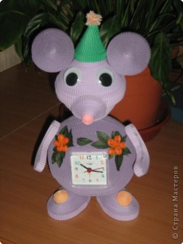 Квиллинг: мышка норушка (часы) фото 2