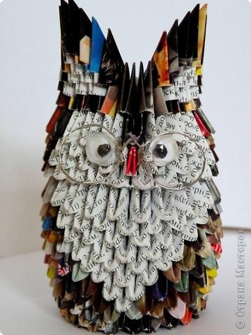 Оригами модульное: Умный совёнок