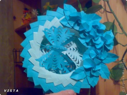 Бумажный туннель: Бумажные фантазии в синих тонах