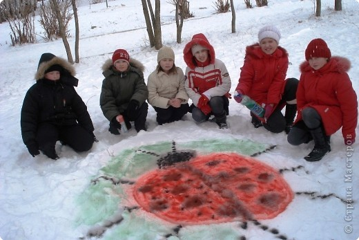 Рисунки на снегу фото 2