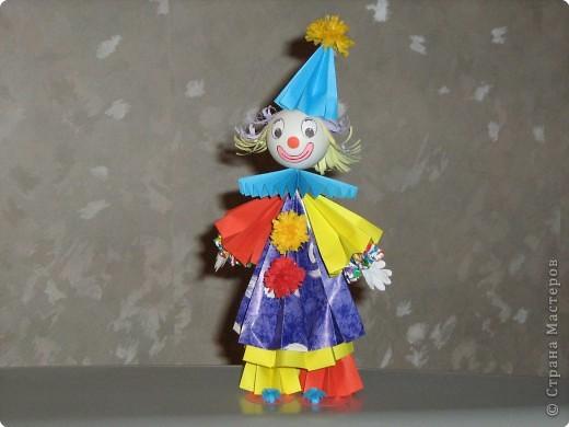"""Кусудама, Оригами: Клоун """"Весельчак""""."""
