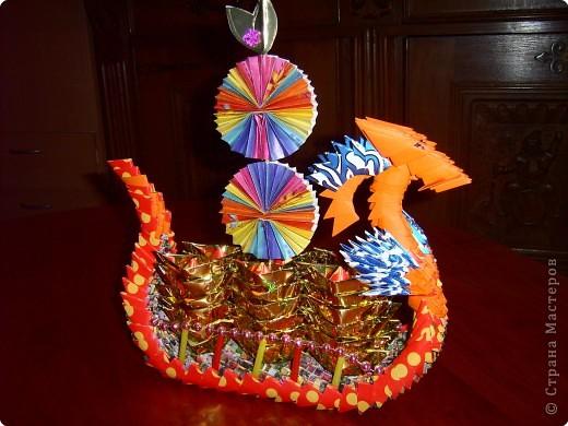 Оригами модульное: китайский кораблик фото 2