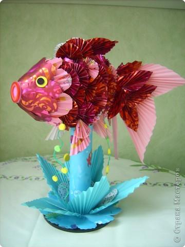 Оригами модульное: золотая рыбка фото 3
