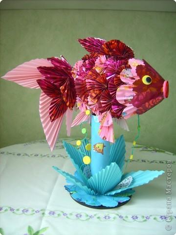 Оригами модульное: золотая рыбка фото 1