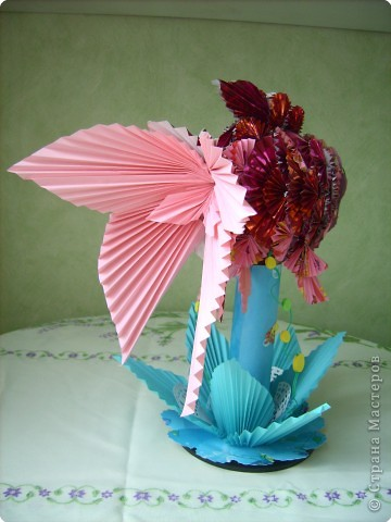 Оригами модульное: золотая рыбка фото 4