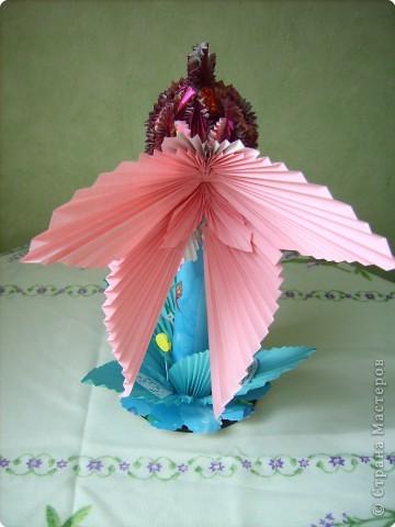 Оригами модульное: золотая рыбка фото 5