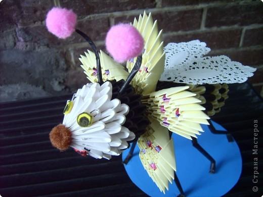 Оригами модульное: пчелочка  фото 3