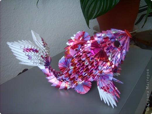 Оригами модульное: золотая рыбка  2 фото 2