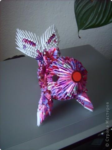 Оригами модульное: золотая рыбка  2 фото 3