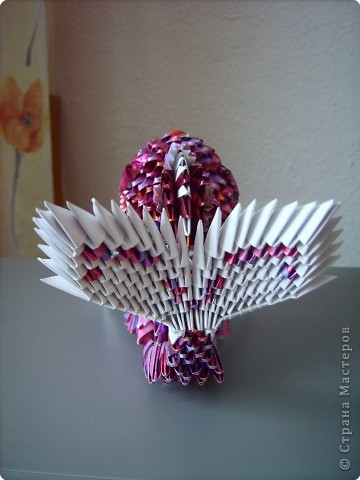Оригами модульное: золотая рыбка  2 фото 4