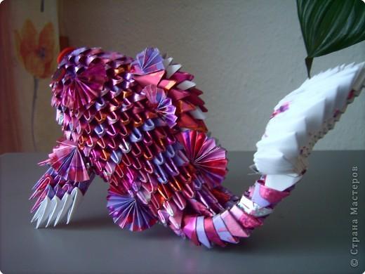 Оригами модульное: золотая рыбка  2 фото 5