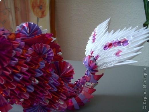 Оригами модульное: золотая рыбка  2 фото 7
