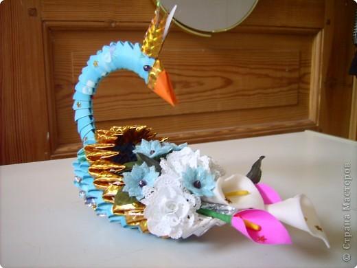 Оригами модульное: очередной лебедь в дружную компанию фото 2