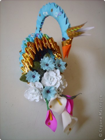 Оригами модульное: очередной лебедь в дружную компанию фото 4