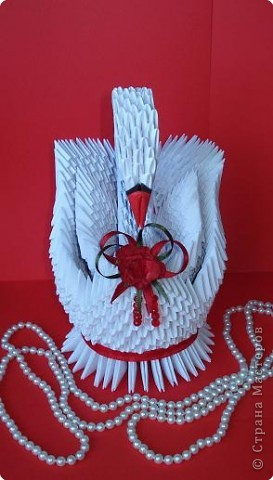 Оригами модульное: А вот и еще один лебедь... фото 2