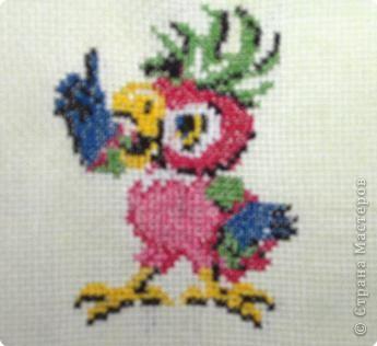 Вышивка крестом: Птица - говорун