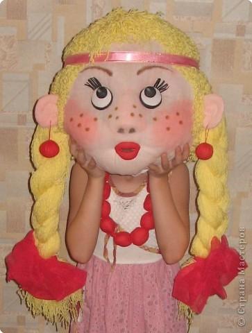 Одна из моих последних работ: Кукла-Масленица (голова). фото 1