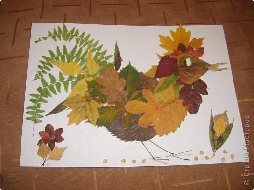 Аппликация: Осенний петушок.