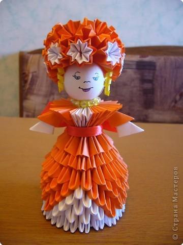 Квиллинг, Оригами модульное: Дама с собачкой фото 4