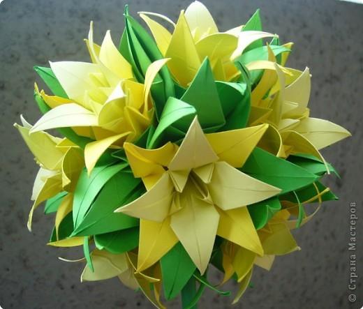 "Оригами модульное: Цветок ""Лилия"" фото 2"