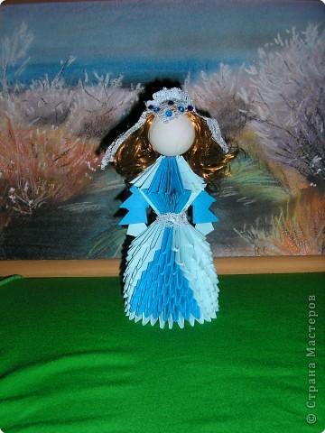 Оригами модульное: Девушка в голубом
