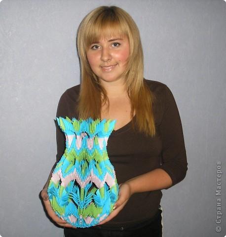 Оригами модульное: ваза фото 3