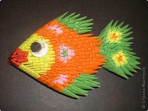 Оригами модульное: рыбка фото 2