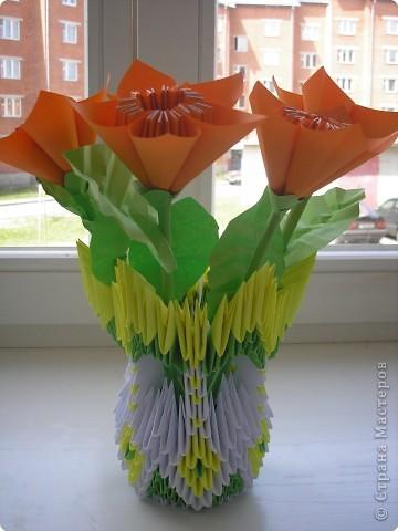 Кусудама, Оригами модульное: цветы фото 2