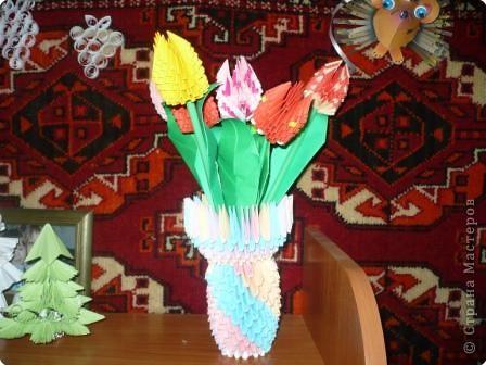 Оригами модульное: к 8 марта