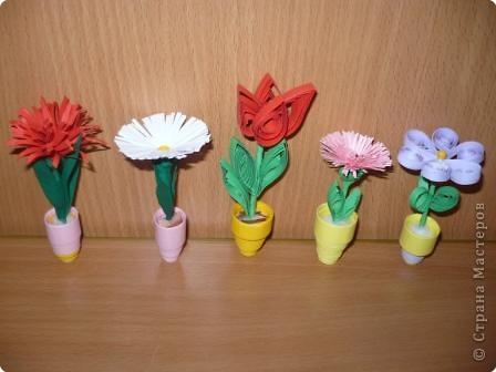 Квиллинг: миниатюрные цветы