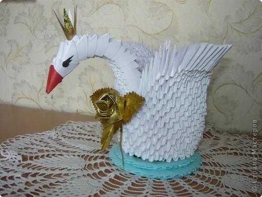Оригами модульное: Царевна Лебедь