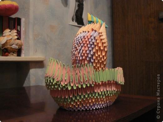 Оригами модульное: Кораблик фото 3
