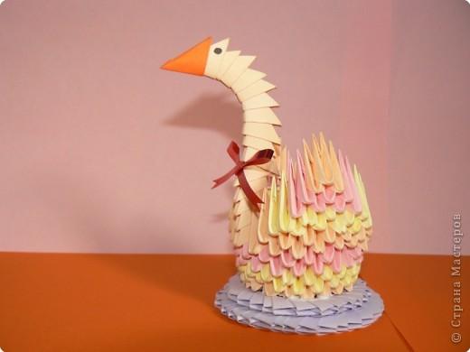 Оригами модульное: Лебеденок фото 2
