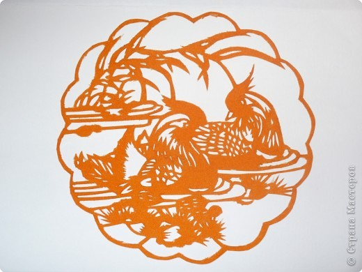Вытынанка: Уточки-мандаринки