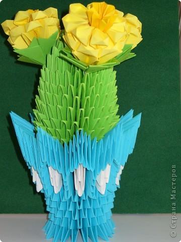 Оригами модульное: А у меня тоже кактус зацвёл